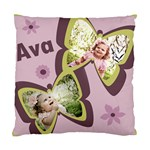Ava s Throw Pillow for her  Big Girl  Bed - Standard Cushion Case (Two Sides)