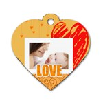 baby Love - Dog Tag Heart (One Side)