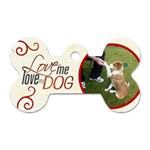 Love me love my dog 2 sided dogtag - Dog Tag Bone (Two Sides)