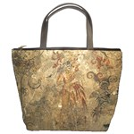 mayan wall painting bucket bag