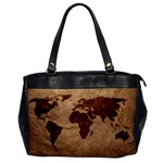 leather map one sided office bag - Oversize Office Handbag