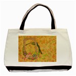 Spring/Floral tote, 1 side, template - Basic Tote Bag
