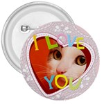I love you - 3  Button