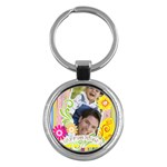 happy easter - Key Chain (Round)