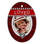 Loved Oval Ornament - Ornament (Oval)