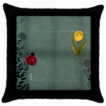 spring pillow case - Throw Pillow Case (Black)