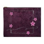 purple cosmetic bag (XL)