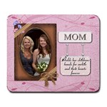 Mom s Pink Mousepad - Large Mousepad
