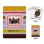 Spring Easter Stripe Playing Cards - Playing Cards Single Design (Rectangle)