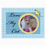 Love my Cat Glass Cloth Large - Large Glasses Cloth