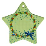 Lil  Pilot/boy, star ornament - Ornament (Star)