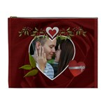 Red Rose Hearts XL Cosmetic Bag - Cosmetic Bag (XL)