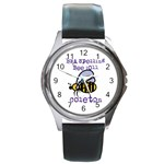 spelling bee watch - Round Metal Watch
