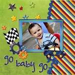 About A Boy Scrapbook LO 1 - ScrapBook Page 12  x 12