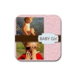 baby girl - Rubber Coaster (Square)