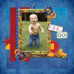 About A Boy Scrapbook Page 2 - ScrapBook Page 12  x 12
