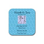 Save the Date Square - Rubber Square Coaster (4 pack)
