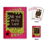 Polka Dot Poppy Spring Flower Leaf Playing Cards - Playing Cards Single Design (Rectangle)