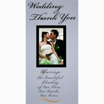 Wedding Thank You 4x8 card - 4  x 8  Photo Cards