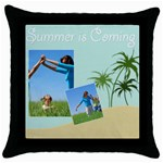 summer is coming - Throw Pillow Case (Black)