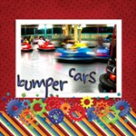 About A Boy Bumper cars - ScrapBook Page 12  x 12