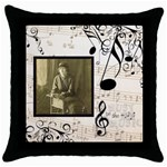 Must be the Music Throw Pillow - Throw Pillow Case (Black)