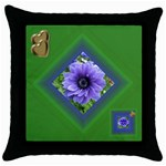 Two Hearts one Mind Throw Pillow - Throw Pillow Case (Black)