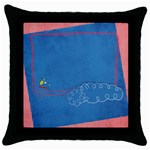 Tiny Pilot-Throw Pillow Case (Black)