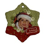 Holiday-Custom Snowflake Ornament (Two Sides)