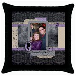 Royal Silhouette Pillow Case - Throw Pillow Case (Black)