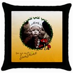 You are my sunshine 2 - pillow - Throw Pillow Case (Black)
