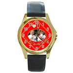 Love you Round Watch - Round Gold Metal Watch
