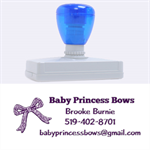 bows - Rubber Address Stamp (XL)