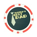 World s Best Dad/Father-Poker Chip - Poker Chip Card Guard