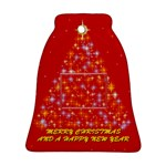 Merry Christmas & Happy New Year - Bell Ornament (Two Sides)
