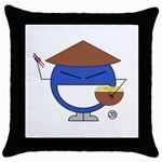 Chinaman pillow - Throw Pillow Case (Black)