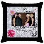Nina s Pillow - Throw Pillow Case (Black)