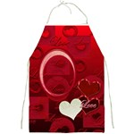 I Heart You Red Love apron - Full Print Apron