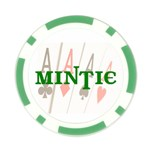 Mintie Poker NIGHT Chip Green - Poker Chip Card Guard