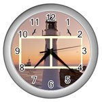Castle Point Light house clock - Wall Clock (Silver)
