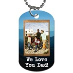 Dog tag with mountain rustic burlap design - Dog Tag (Two Sides)