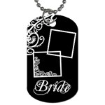 Wedding Bride - Dog Tag (Two Sides)