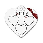 Family Heart Tag - Dog Tag Heart (One Side)