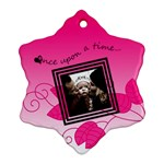 Once upon a time (pink) - Snowflake ornament - Ornament (Snowflake)