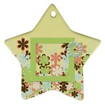 Spring Blossom Star Ornament - Ornament (Star)
