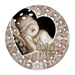 Baby Mine Cute as a Button double side filigree Ornament - Round Filigree Ornament (Two Sides)