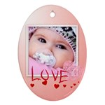 love - Ornament (Oval)