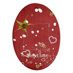 sweet love ornament (oval)