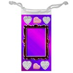 diamond heart jewelry bag