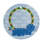 Tiny Pilot-round ornament (2 sides) - Round Ornament (Two Sides)